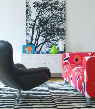 Marimekko Unikko Slipcover & Tuuli Wall Hanging