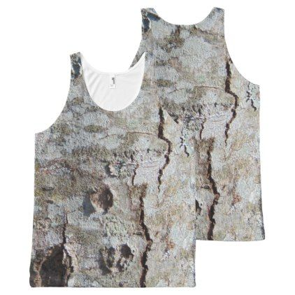 Young Maple Tree Bark 0041 All-Over-Print Tank Top - rustic gifts ideas customize personalize