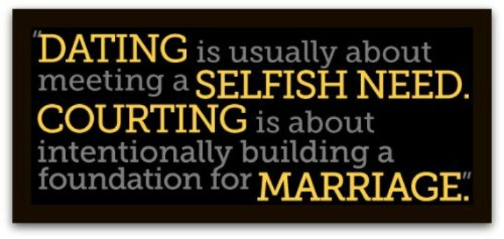 dating courting and marriage What makes christian courtship unique is the intent and the nature of the relationship the intent is marriage  vs dating debate is changing christian courtship .