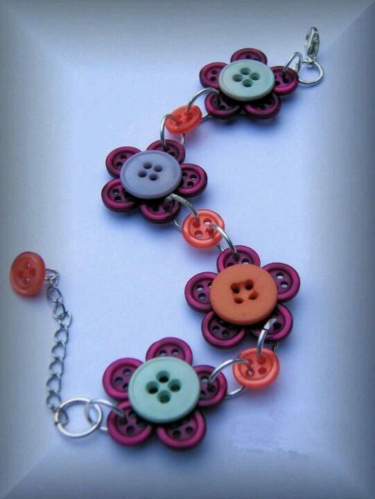 Ideias de decoração com botões.                              …                                                                                                                                                                                 Mais