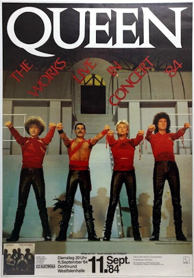 Pin by Ellypennings on Queen | Queen poster, Tour posters ...