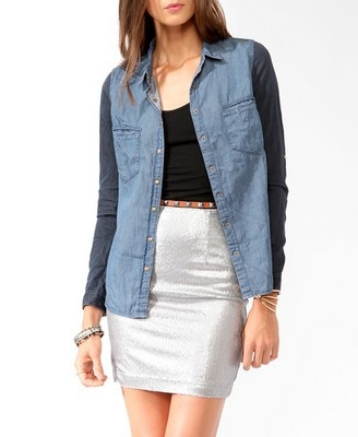 What YOU Should Be Buying At Forever 21 RIGHT NOWDuotone Chambray, Adorable Chambray, Clothing Accessories, Chambray Shirts, Shirts 22 80, 2025101505, Forever21, Shirts 2280, Duo Ton Chambray