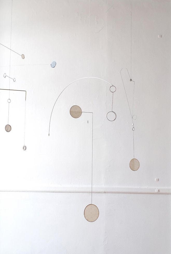 Forms from Wire & Paper – Hanging Mobiles by Kayo Miyashita