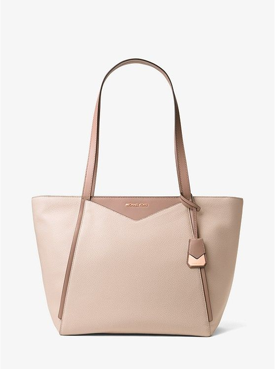 MICHAEL Michael Kors Soft Pink Fawn Whitney Large Leather Tote ... 6a94d132b953b