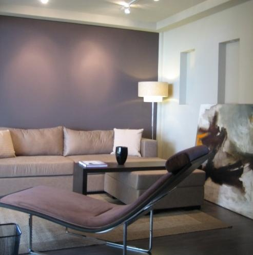 Asian Living Room By Karen Maximo Fernando I Love These Ceiling Lights And The Purple Accent Wall