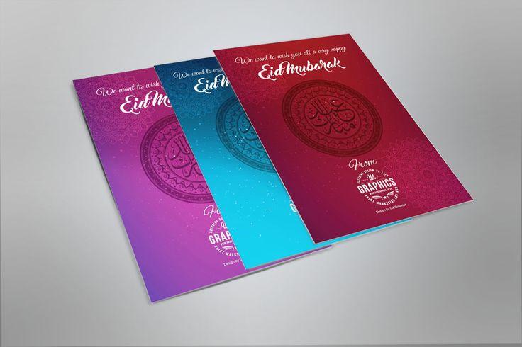 EID CARDS 2016 - Three colourful Eid Card designs for the festival of Eid-ul- Fitr 2016 wishing everyone a very Happy Eid Mubarak.