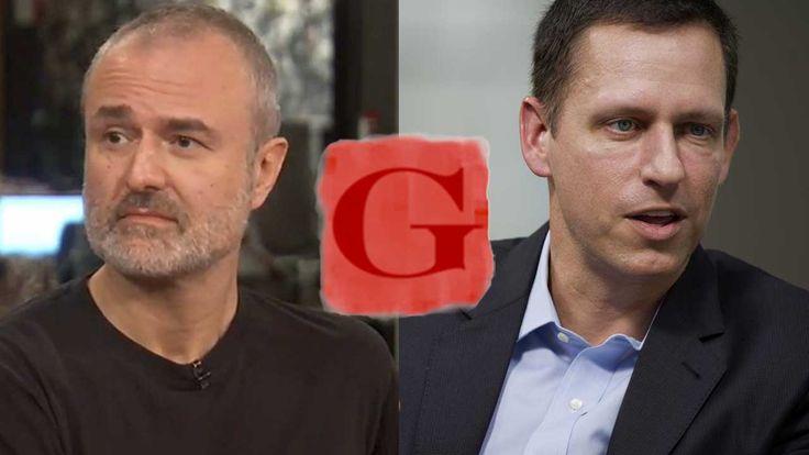 Gawker founder Denton vs Facebook board billionaire Theil.
