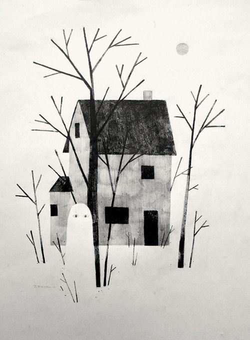 El fantasma Pepillo de Gloria Fuertes.Il.lustració Jon klassen