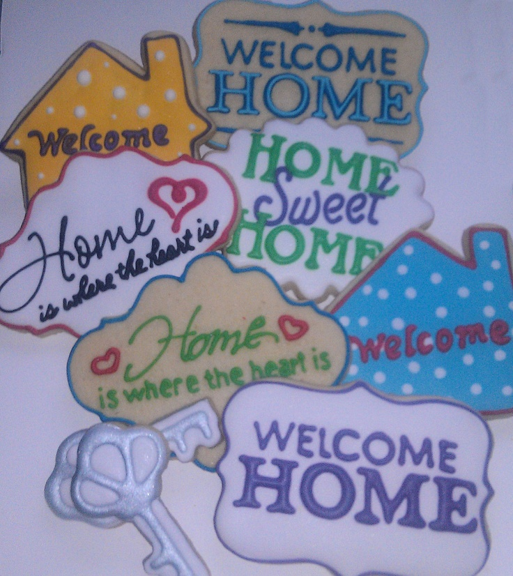 17 Best Images About Welcome Home On Pinterest Sweet Home Sugar Cookies And Cupcake Ideas