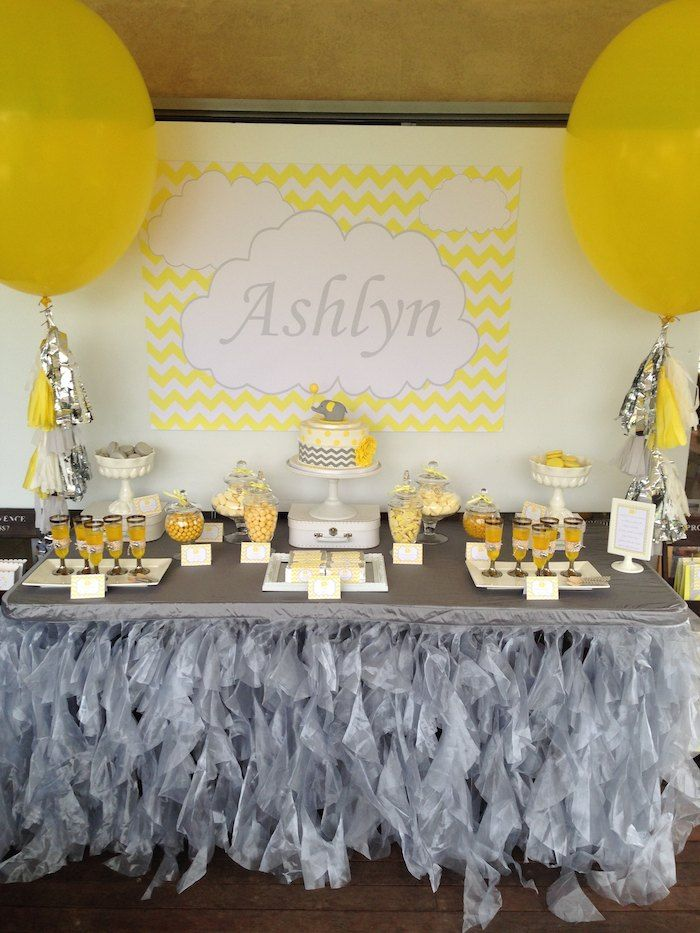 Use A Yellow And Gray Color Scheme For A Gender Neutral