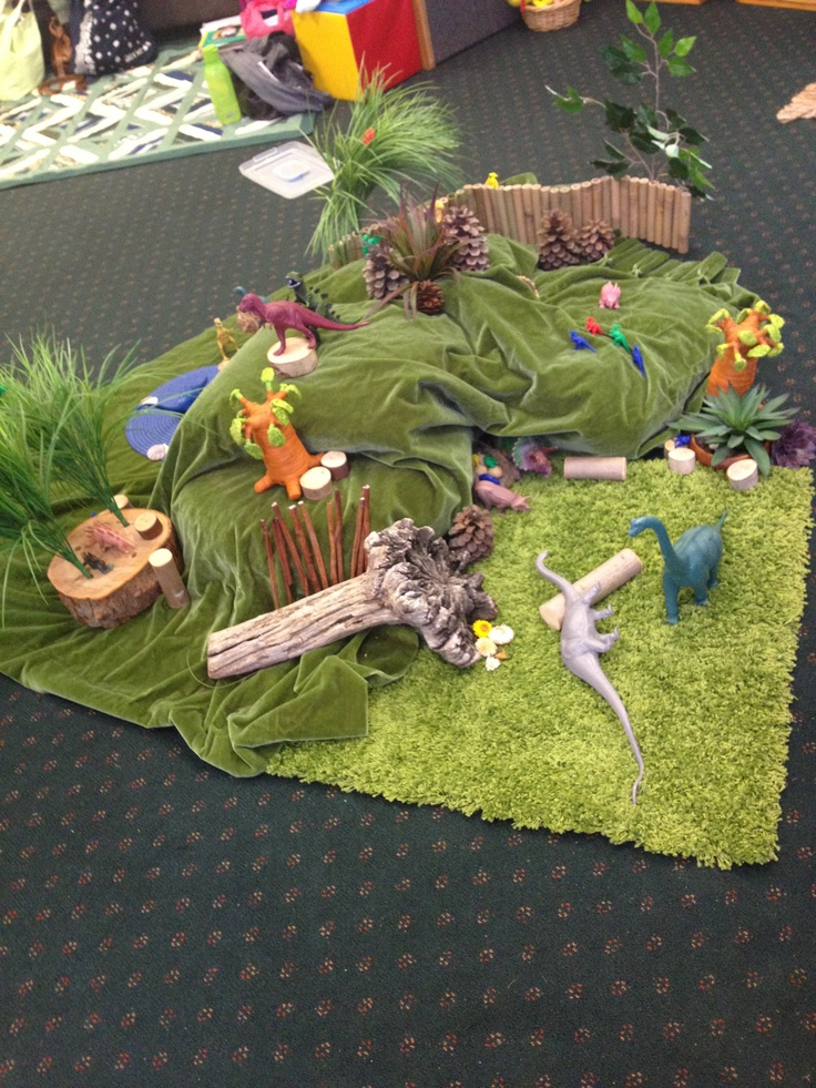 Dinosaur mountain imaginative small world play.