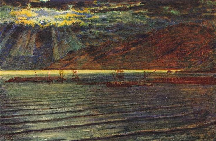Fishingboats by Moonlight - William Holman Hunt