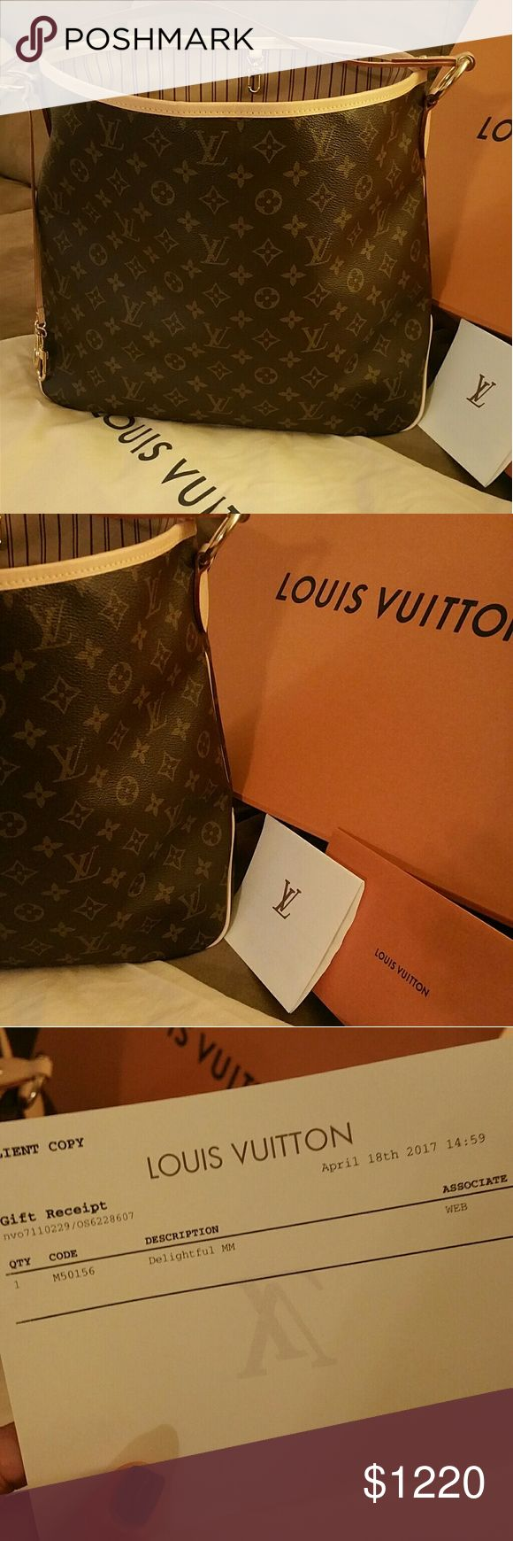 Louis Vuitton monogram Delightful MM Authentic Louis Vuitton Delightful MM | Monogram canvas | EXCELLENT condition, hardly ever carried | Still has that new leather smell 😍 | ☆NO TRADES | NO LOW BALL OFFERS☆ Louis Vuitton Bags Hobos