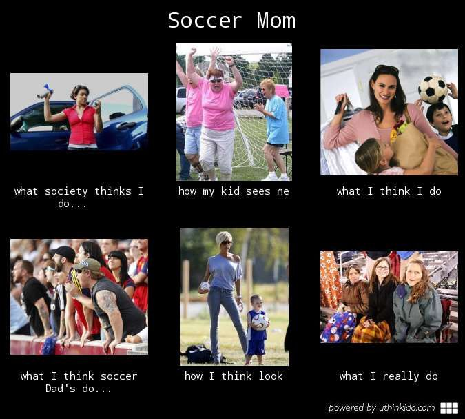 Soccer mom, What people think I do, What I really do meme image - uthinkido.com