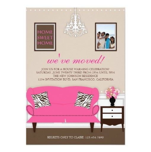 Stylish Decor Housewarming Invitation Card