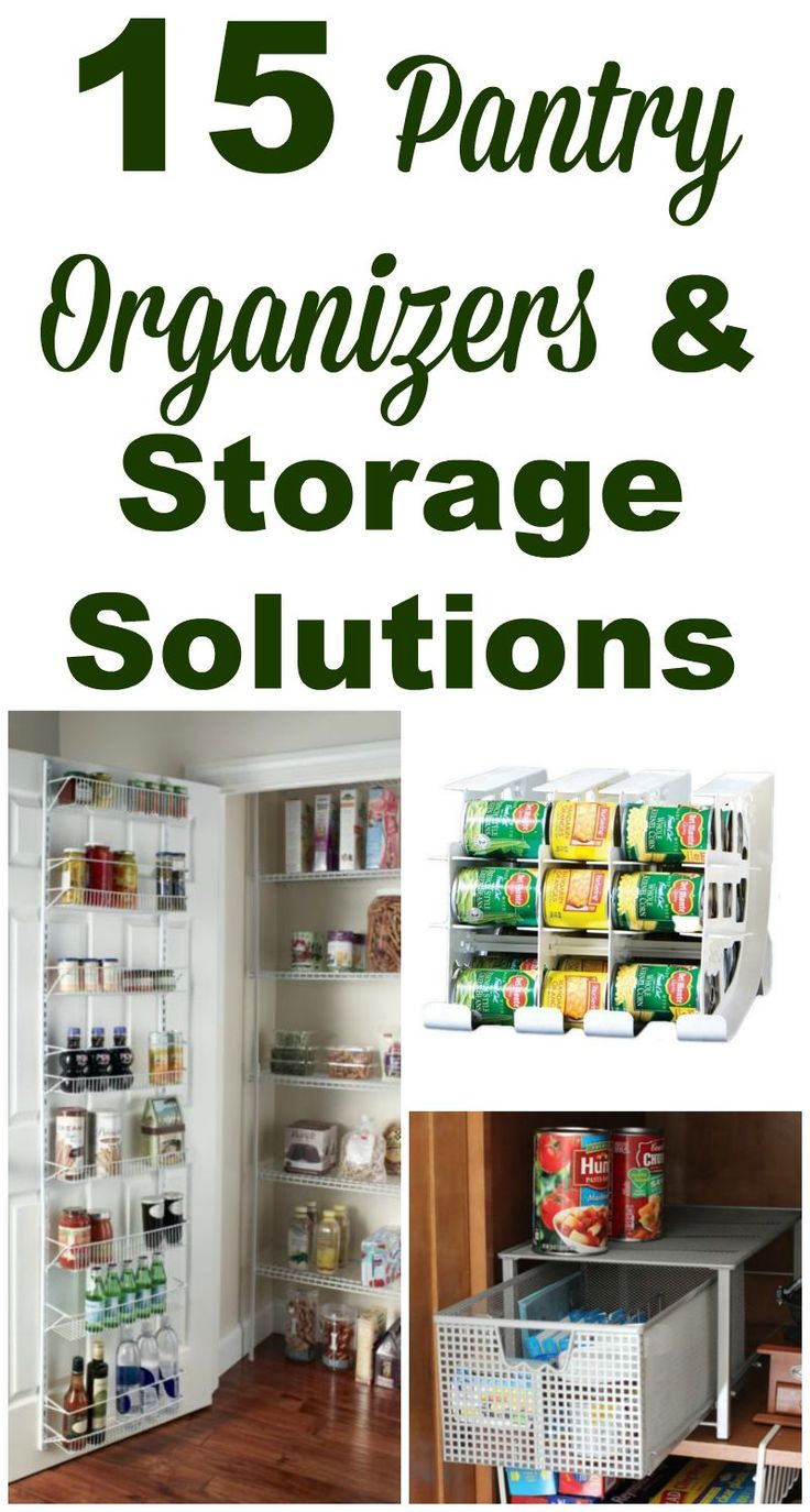 15 pantry organizers and storage solutions you can use. Be able to find exactly what you want when you need it, rotate food properly, and have it look nice all at once! #ad