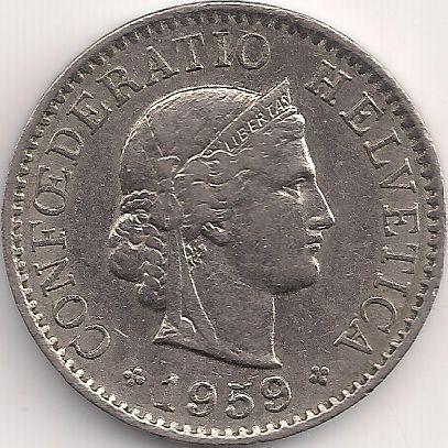 Motivseite: Münze-Europa-Mitteleuropa-Schweiz-Franken-0.05-1879-1980