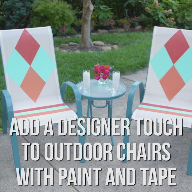 DIY Upcycled Outdoor Furniture