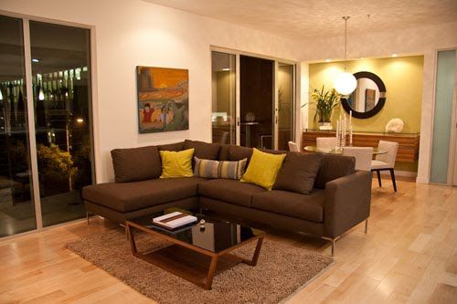 sala moderna, sofas chocolate - Buscar con Google
