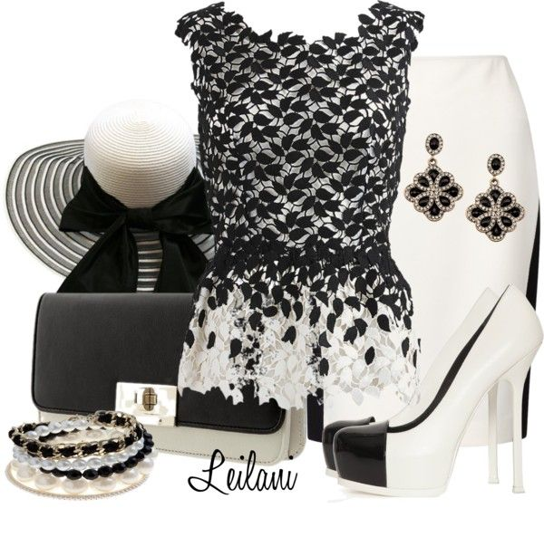"""Black & White by Leilani"" by leilani-almazan ❤ liked on Polyvore"