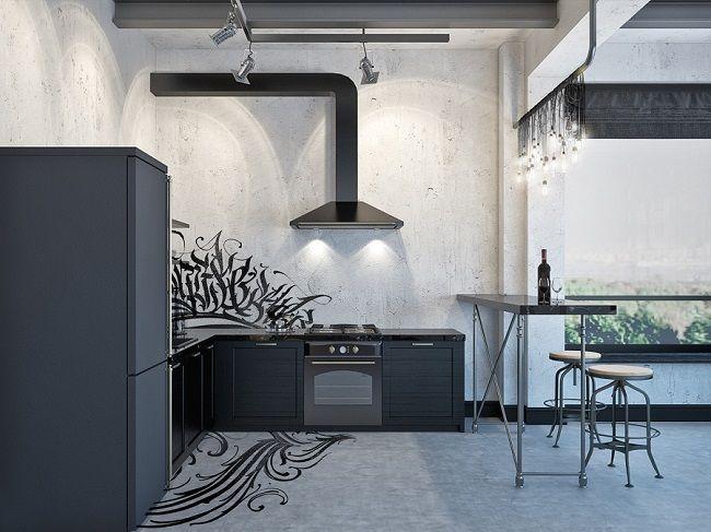 """Проект """"Темный рыцарь"""": квартира в стиле лофт для современного архитектора - PRO Недвижимость"""