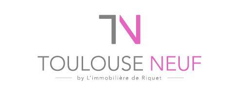 Logotype Toulouse Neuf -  Agence immobilière  #logo #logotype #creation #design #graphisme #agencecommunication #communication #ToulouseNeuf #Immobilier #toulouse #ewolis #creationewolis