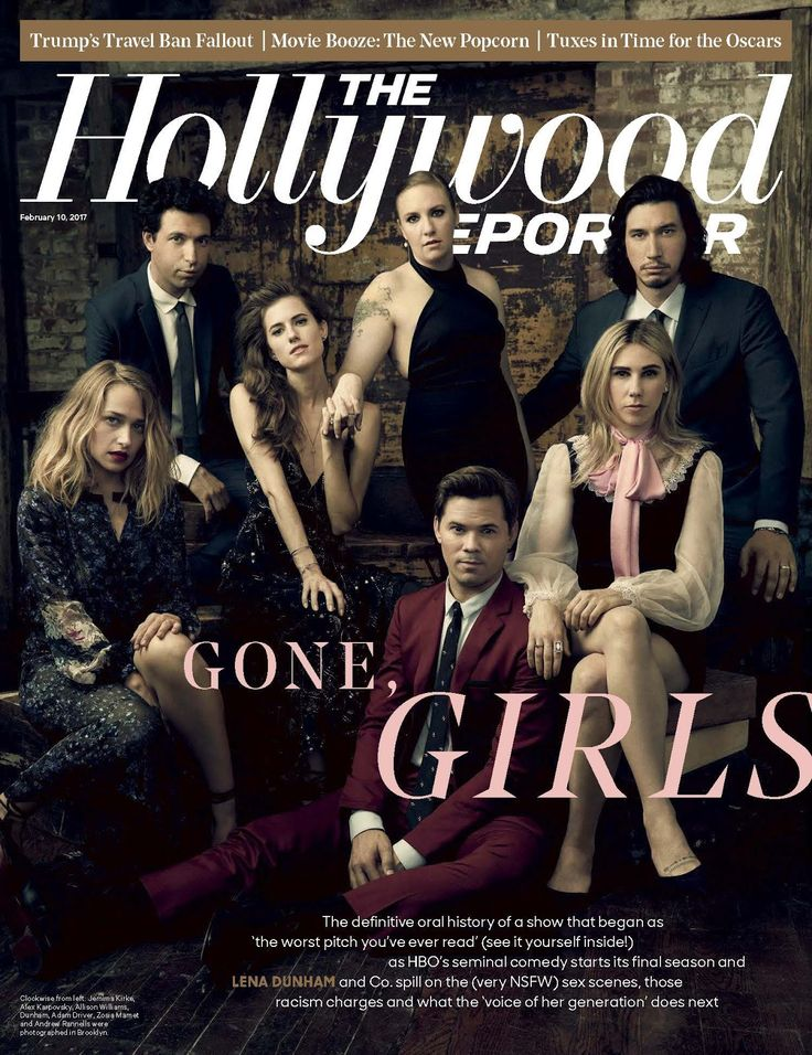 Alex Karpovsky, Adam Driver y Andrew Rannells para The Hollywood Reporter