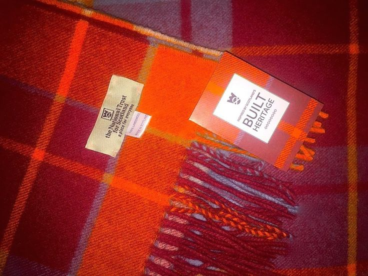 """""""Embrace the new season with this beautiful tartan scarf designed and woven by Johnstons of Elgin exclusively for the National Trust for Scotland! The Built Heritage Tartan is a combination of rich ochre, earth tones and duck-egg blue, which can be traced back to the artistry of the unique painted ceilings in Gladstones Land. This tartan is just one of the collection - visit us at the Castle Gift Shop to view the full range inspired by Scotland!"""""""