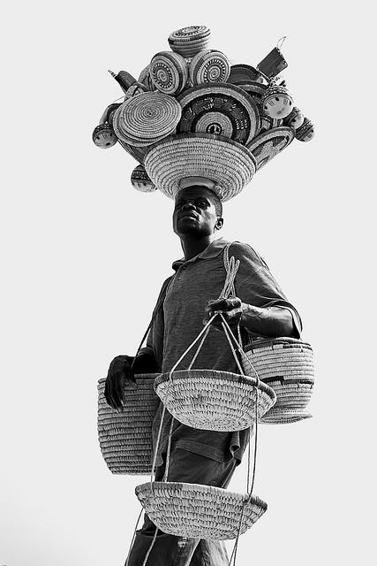 Africa | Beach Vendor. Lagos, Nigeria | © E.B. Sylvester.