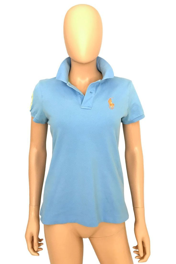 3839bea44ad Ralph Lauren Golf Tailored Fit Blue Mesh Knit Polo Shirt / Sz M. Ralph  Lauren