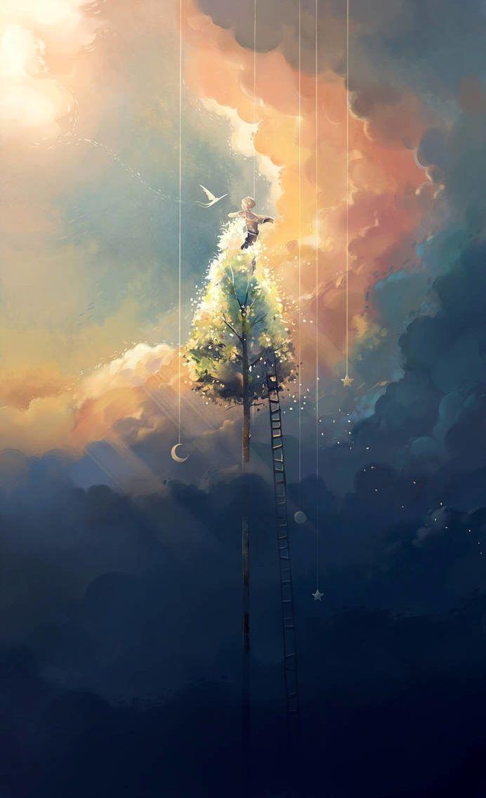 Digital Painting By Niken Anindita Digital Art Artwoonz Digital Painting Anime Scenery Art Wallpaper