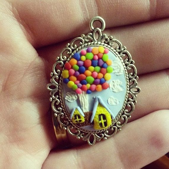 "Disney Pixar's ""UP"" Inspired Polymer Clay Cameo Pendant"