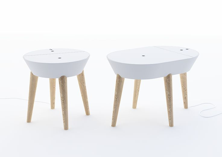 Coffee table with integrated plug