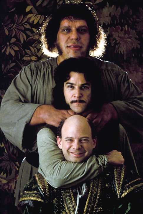 Fezzik, Inigo Montoya, Vizzini - André the Giant, Mandy Patinkin, Wallace Shawn in The Princess Bride