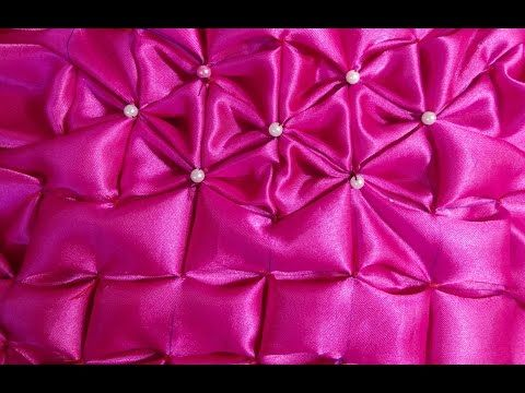 How to make a very beautiful cushion using Smocking (brick design) by Rose - YouTube