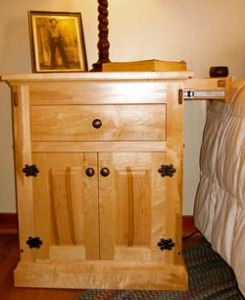 Nightstand With Secret Drawer On Side Secret And Secure