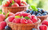 Обои: berries, малина, клубника, черника, fresh, ягоды, корзинка