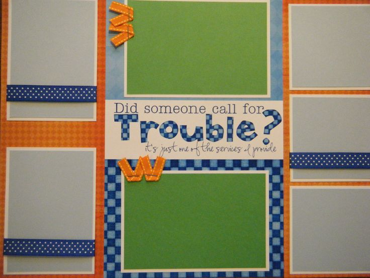 Baby Boy Scrapbook Layouts | Set of 6 Baby Boy Toddler Premade Scrapbook Pages ADORABLE for your ...