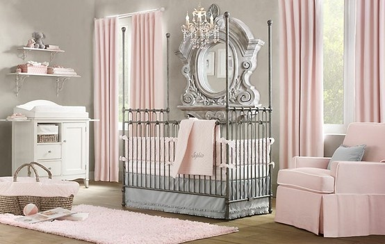 One of the cutest baby girl rooms ever.Ideas, Baby Girl Rooms, Baby Girls Room, Colors Schemes, Pink, Baby Room, Girls Nurseries, Babies Rooms