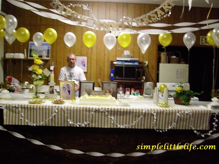 50th Anniversary Party Decor By Simple Little Life Ideas