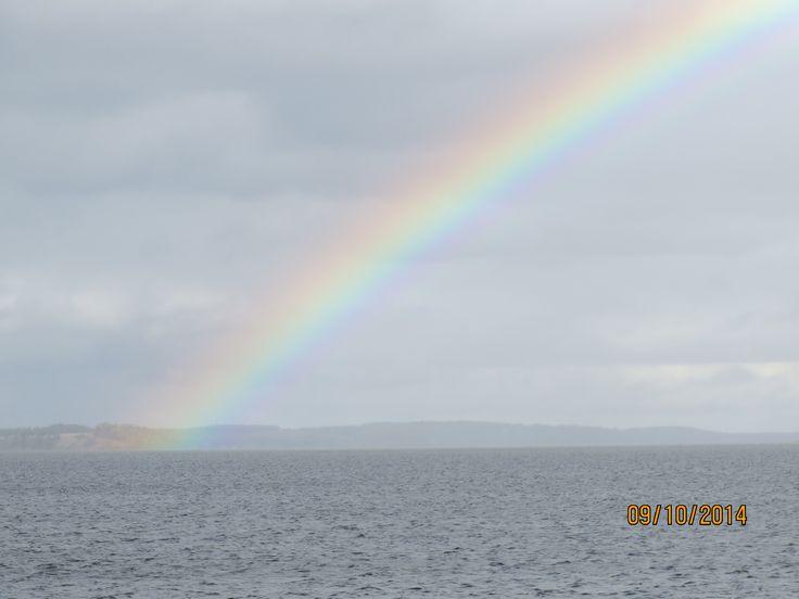 A double rainbow..