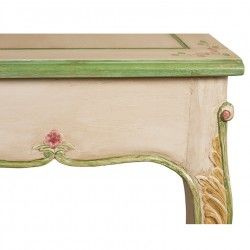 Louis XV Carved Dresser / Desk Painted 6