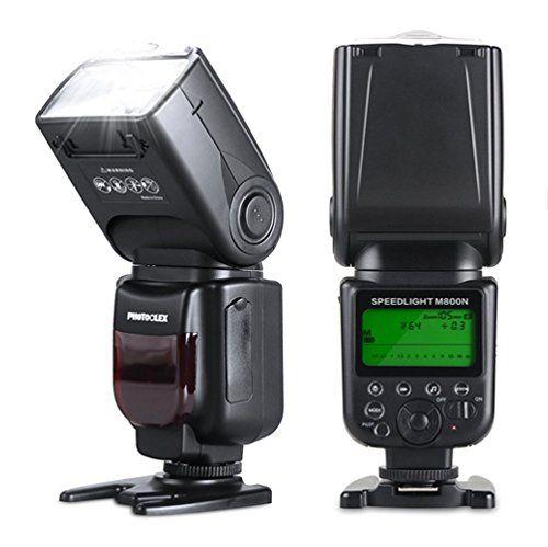 Photoolex M800N Blitzger�te 1/8000s Nikon Blitz iTTL / TTL Nikon Flash f�r Nikon D7200 D7100 D7000 D5200 D5100 D5000 D3000 D3100 D300 D300S D700 D600 und Andere Nikon DSLR Kamera