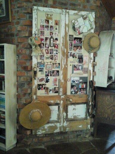 Old doors as photo frames