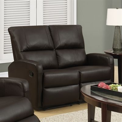 Monarch Specialties I 84 Bonded Leather Reclining Loveseat