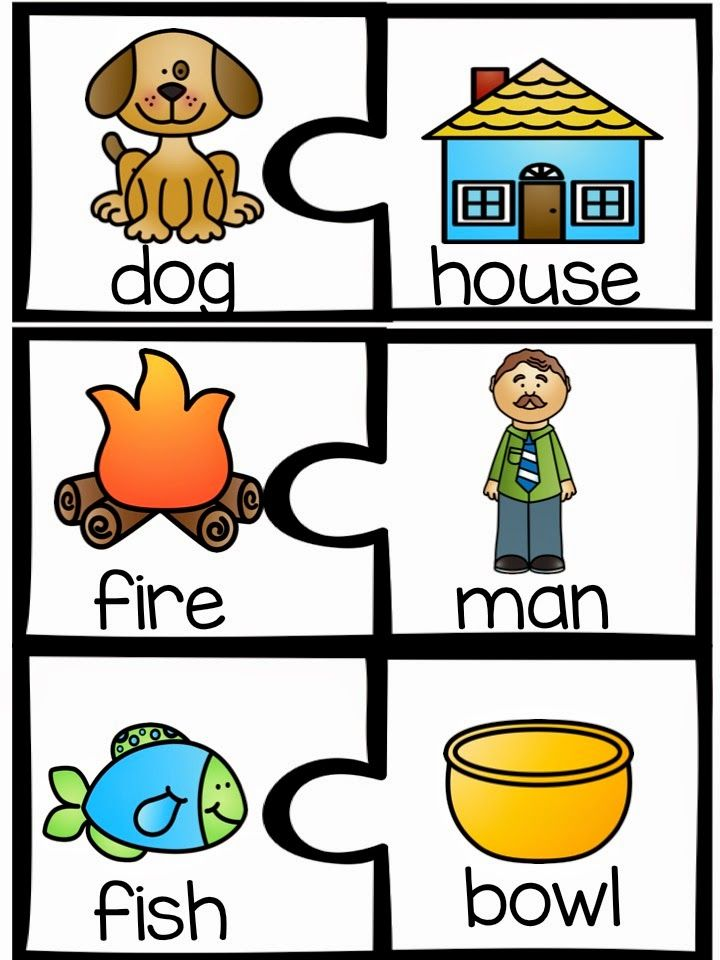 Compound Word cards.  Students can put together the puzzle pieces to make real compound words.