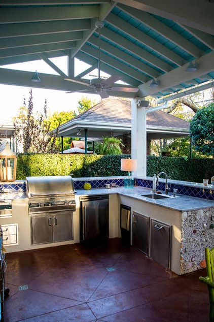 Mullin Landscape Associates, LLCSave to IdeabookEmail Photo The kitchen has a grill, sink, wine bar and plate warming drawer. The designers ...