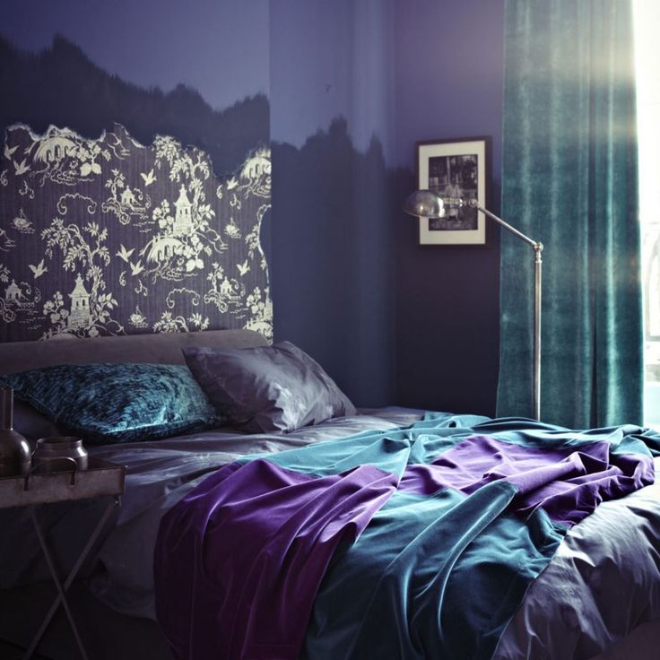 purple bedroom mediterranean matching - photo #35