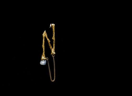 BONE ZIGZAG EARRING BRASS - LEMON JEWELLERY