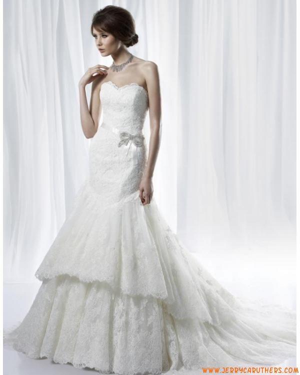 nieuwe stijl zeemeermin kanten bruidsjurk